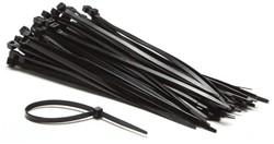 Inbindstrips Budget nylon 4,8x200mm Ø49,5mm zwart