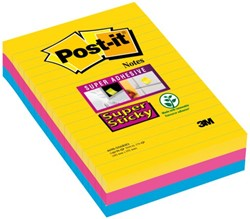 Memoblok 3M Post-it 4690 Super Sticky 101x152mm lijn Rio