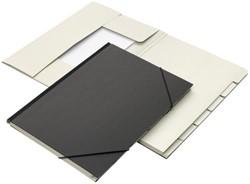 Combinatiemap Jalema 7 vaks met tab folio zwart