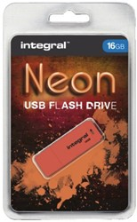 USB-stick 2.0 Integral 16Gb neon oranje
