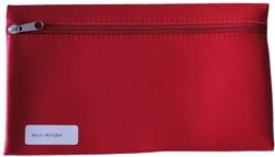 Schooletui met rits 15x26cm skai helder rood