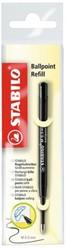 Balpenvulling STABILO standaard zwart  blister à 1 stuk
