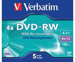 DVD-RW Verbatim 4.7GB 4x jewelcase