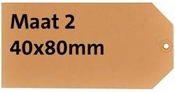 Label karton nr2 200gr 40x80mm chamois 1000stuks