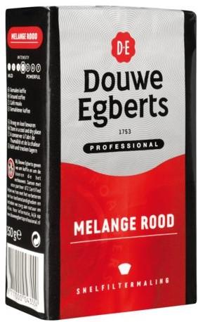 Koffie Douwe Egberts snelfiltermaling Roodmerk 250gr-1