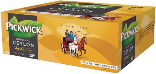 Thee Pickwick Ceylon 100 zakjes van 2gr met envelop-2
