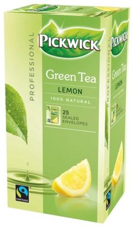 Thee Pickwick Fair Trade groen lemon 25 zakjes van 1.5gr-3