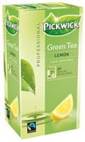 Thee Pickwick Fair Trade groen lemon 25 zakjes van 1.5gr-1