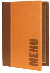 Menukaart Securit Trendy A5 1 x 2 tassen bruin