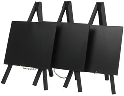 Krijtbord Securit mini 3-poot 26x15.5x1.3cm zwart hout