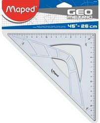 Geodriehoek Maped 45gr 26cm