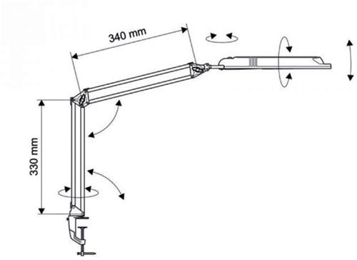 Bureaulamp MAULatlantic LED met tafelklem zwart-2