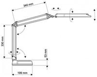 Bureaulamp MAUL Atlantic LED tafelklem zwart-2