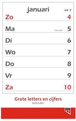 Kalender 2021 met grote letters en cijfers Quantore