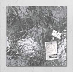 Glasbord Sigel magnetisch 480x480x15mm zilver