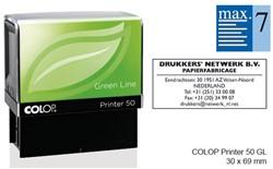 Tekststempel Colop 50 green line+bon 7regels 69x30mm