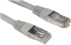 Kabel Hama CAT5e STP 10m grijs bulkverpakking