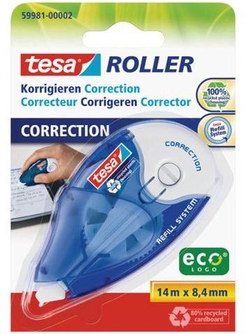 Correctieroller Tesa 8.4mmx14m ecoLogo navulbaar op blister