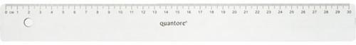Liniaal Quantore 30cm kunststof transparant