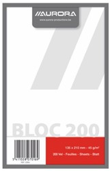 Kladblok Aurora 135x210mm 200vel blanco