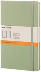 Notitieboek Moleskine large 130x210mm lijn wilgengroen