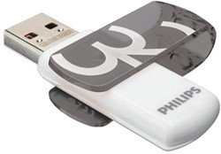 USB-stick 2.0 Philips Vivid 32GB grijs