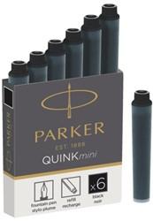 Inktpatroon Parker Quink mini tbv Parker esprit zwart