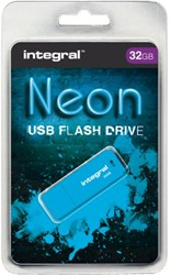 USB-stick 2.0 Integral 32GB neon blauw