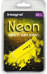 USB-stick 2.0 Integral 32GB neon geel