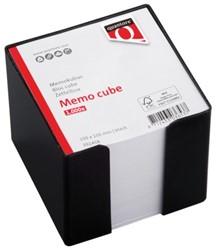Memokubus Quantore 10x10x10cm zwart met 1000vel