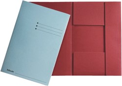 Dossiermap Esselte folio 3 kleppen manilla 275gr rood