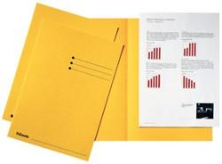 Vouwmap Esselte A4 manilla 180gr geel