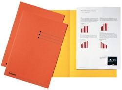 Vouwmap Esselte A4 manilla 180gr oranje