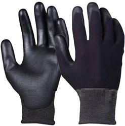 Handschoen grip PU-flex zwart smal