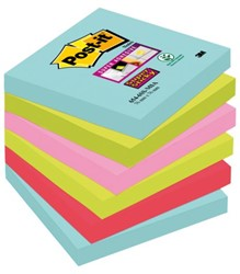 Memoblok 3M Post-it 654-SSMI Super Sticky 76x76mm Miami