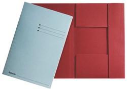 Dossiermap Esselte 275gr 3kleppen rood