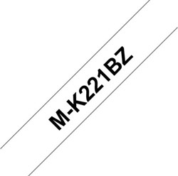 Labeltape Brother P-touch MK-221 9mm zwart op wit