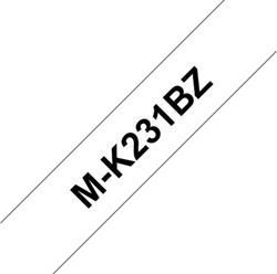 Labeltape Brother P-touch M-K231 12mm zwart op wit