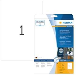 Etiket Herma 4577 A4 210x297mm 20stuks wit