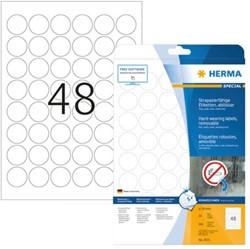 Etiket Herma 4571 30mm rond 960stuks wit