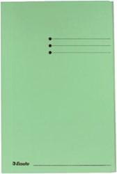 Dossiermap Esselte folio 3 kleppen manilla 275gr groen