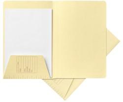 Dossiermap Jalema A4 1 klep 160gr lichtgeel