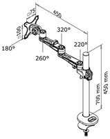 "Monitorarm Newstar D935G 10-30"" op voet zilvergrijs-2"