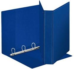 Presentatieringband Esselte Deluxe A4 4-rings D-mech 20mm blauw