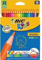 Kleurpotloden Bic Kids Evolution ass blister à 18st