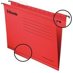Hangmap Esselte Classic A4 V-bodem rood