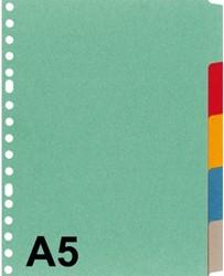 Tabbladen Kangaro A5 17-gaats P505M 5-delig assorti karton