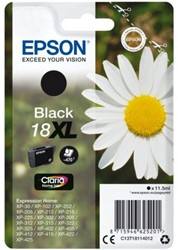 Inktcartridge Epson 18XL T1811 zwart HC
