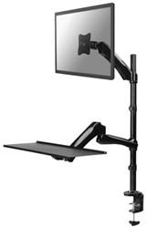 "PC arm Neomounts D500 10-27"" werkplek zwart"