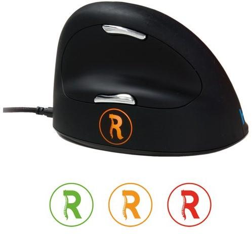 Muis R-Go Tools HE Break medium rechts bedraad zwart-4